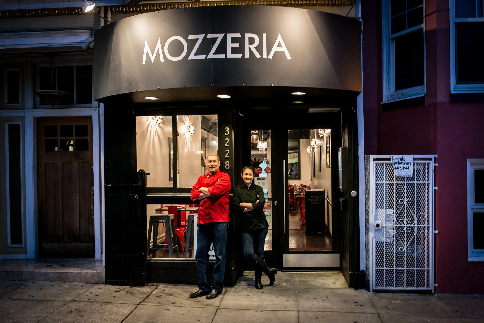 Russ and Melody Stein Outside of Mozzeria San Francisco