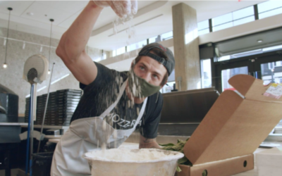 Starbucks, Chase and a small pizzeria form a unique business triangle in Washington, DC
